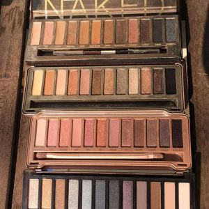All 4 Naked Palettes side by side