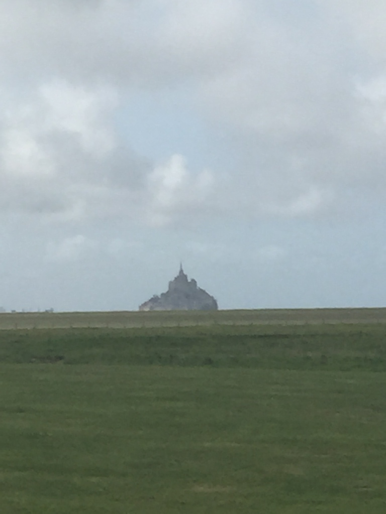 View from the Restaurant window Le Manoir de la Roche Torin of the Mont Saint Michel