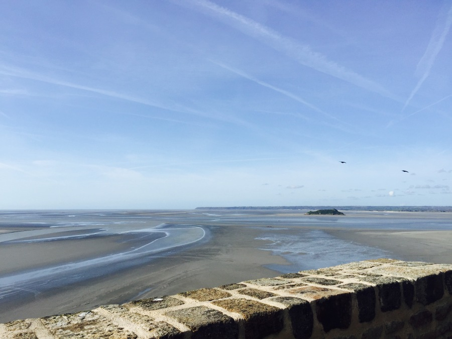Mont Saint Michel bay low tide