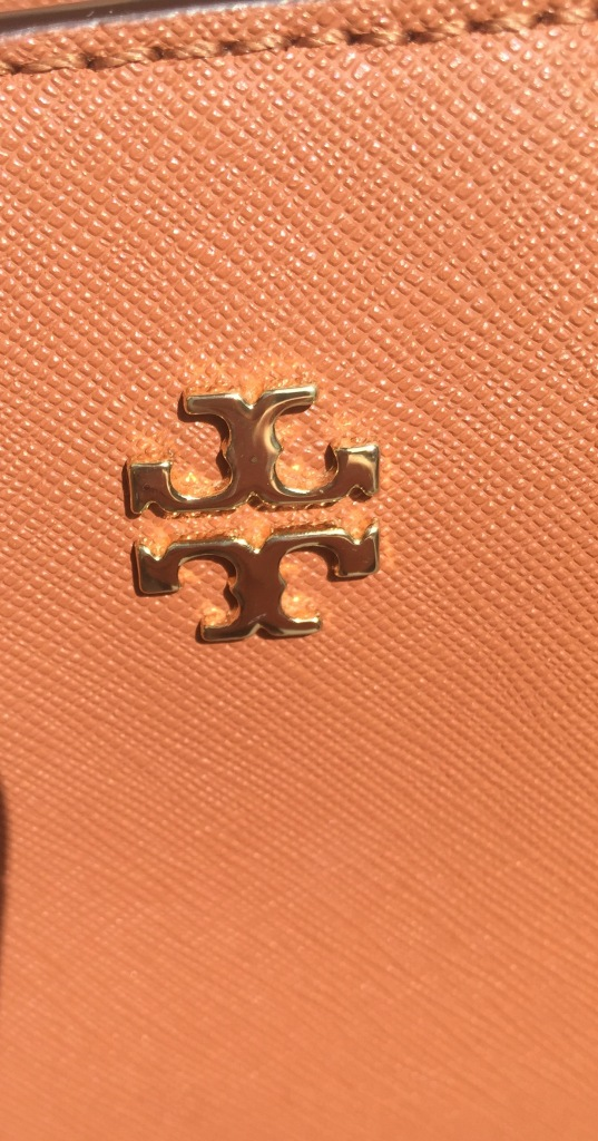 Tory Burch gold hardware logo