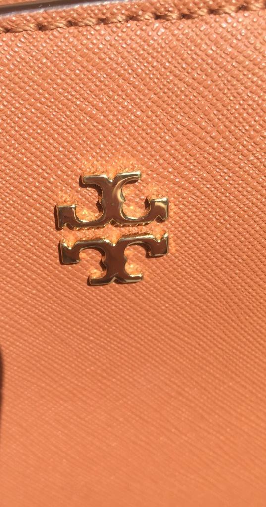 Tory Burch gold hardware logo