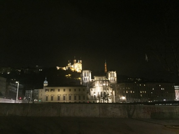 Fourvière Basilica on top of the hill