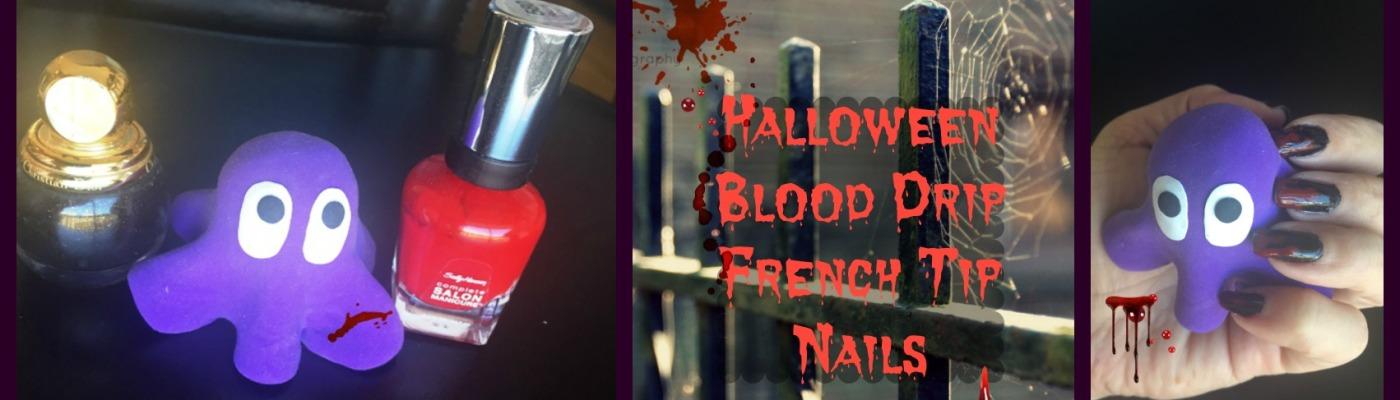 Halloween Blood Drip French Nails Danetigress