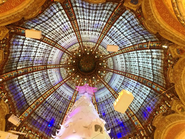 Art Nouveau Cupola window christmas galeries lafayette danetigress