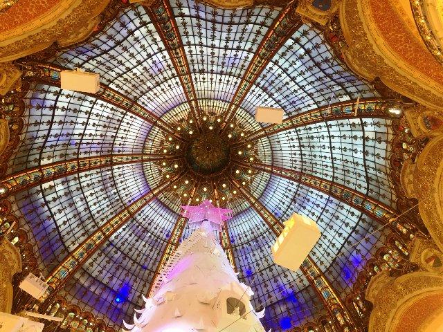 Art Nouveau Cupola window christmas galeries lafayette danetigress